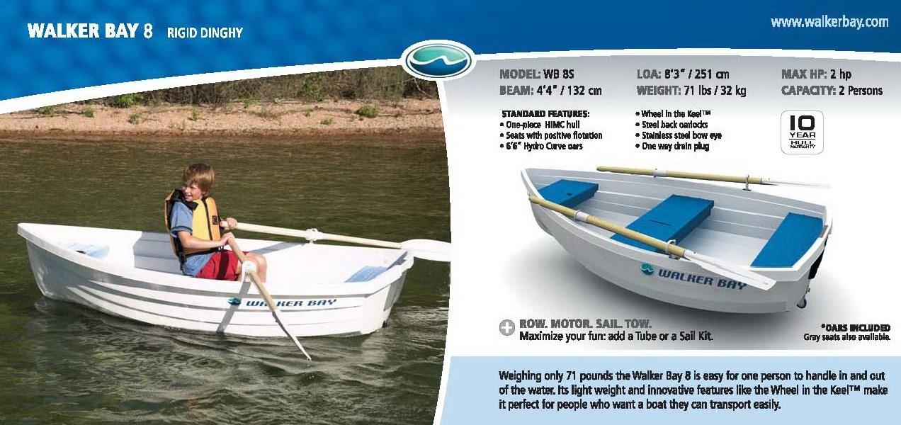 лодка пластиковая walker bay wb 8s