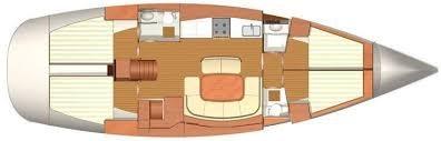 Dufour 455-layout 4 cab.