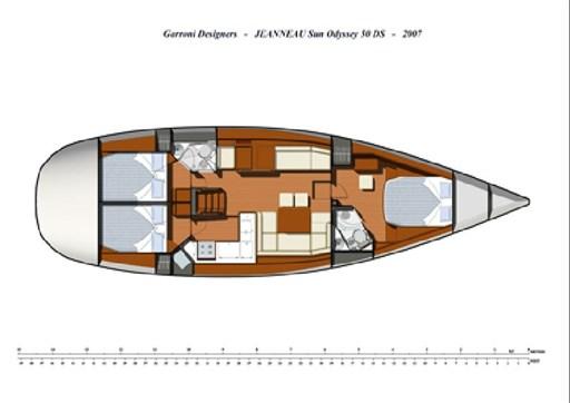 Sun Odyssey 50 ds - layout