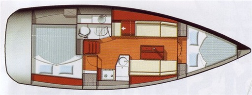 Sun Odyssey 33i layout